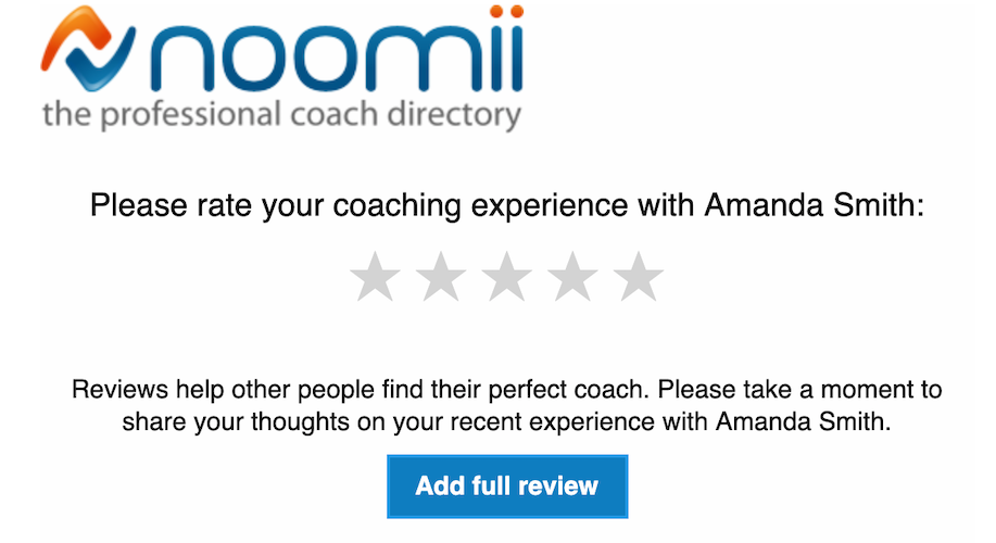 noomii collects 5 star reviews of coaches
